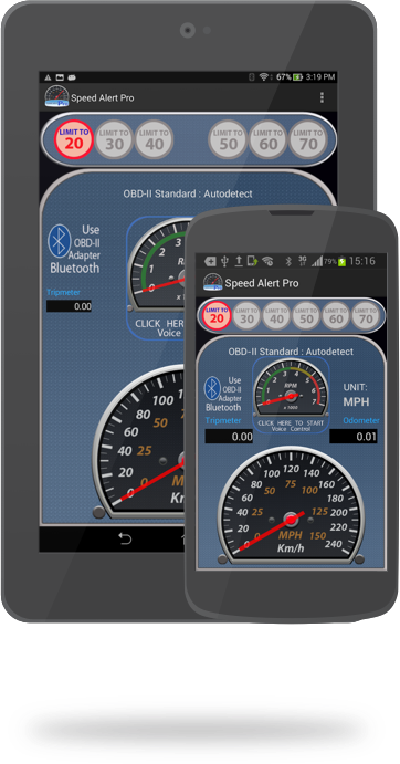 Speed Alert Pro for Android Tablet and Phone